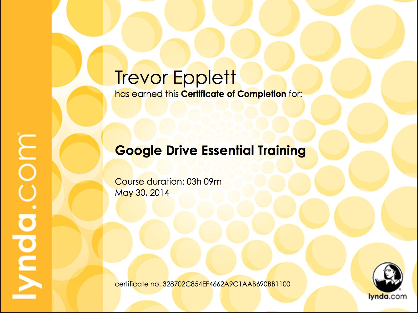 Lynda com Certifications | Trevor Epplett